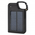 LX-JP14 1450mAh Mobile External Solar Powered Battery Charger w/ Adapters - Blue