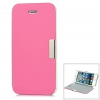 Protective Plastic + Super Fine Case w/ Holder for iPhone 5 - Pink + White