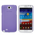 Mesh Protective Plastic Back Case for Samsung N7100 / N7102 - Purple