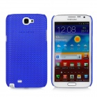 Mesh Protective Plastic Back Case for Samsung N7100 / N7102 - Sapphire Blue