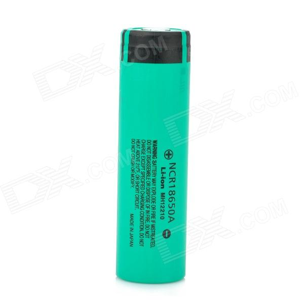 Panasonic NCR18650A 3.7V 3100mAh Rechargeable Li-ion Battery - Black + Green panasonic ncr18650b super max 3 7v 3400mah rechargeable li ion battery black green