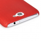 Mesh Protective Plastic Back Case for Samsung N7100 / N7102 - Red