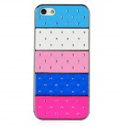 Colorful Rainbow Star Style Protective Plastic Back Case for Iphone 5