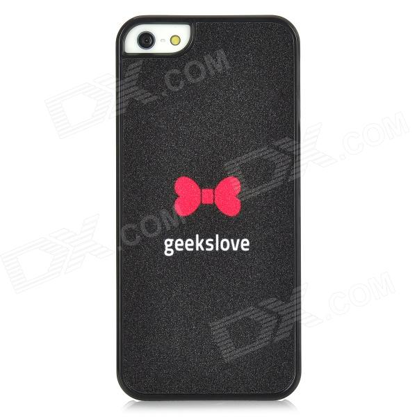 Geeks Love Protective Plastic Case for Iphone 5 - Black rubberized matte plastic cell phone case for iphone 7 plus 5 5 inch black