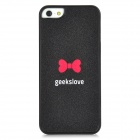 Geeks Love Protective Plastic Case for Iphone 5 - Black