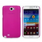 Mesh Protective Plastic Back Case for Samsung N7100 / N7102 - Deep Pink