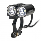 FEREI BL-800F 2 x Cree XM-L T6 1560lm 3-Mode White Bicycle Light - Black (4 x 18650)