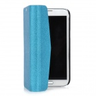 Wallet Style Ultrathin Protective PU Leather Case for Samsung Galaxy Note 2 N7100 - Blue