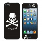 22010160 Skull Pattern Protective Front + Zurück Clear Screen Protector - Schwarz