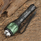 SmallSun ZY-F04T Cree XP-E Q5 200~250lm 3-Mode White Zooming Flashlight - Black + Green (1 x 18650)