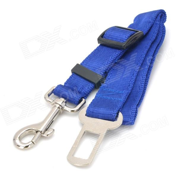 Car Vehicle PP + Stainless Steel Adjustable Safety Seat Belt for Pet Dog / Cat - Blue e4lj 2 in 1 plastic stainless steel bowl for dog cat pet blue silver