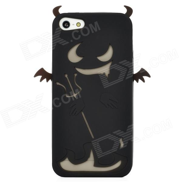Devil Style Protective Silicone Back Case for Iphone 5 - Black baseus little devil case for iphone 7 black