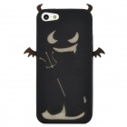 Devil Style Protective Silicone Back Case for Iphone 5 - Black