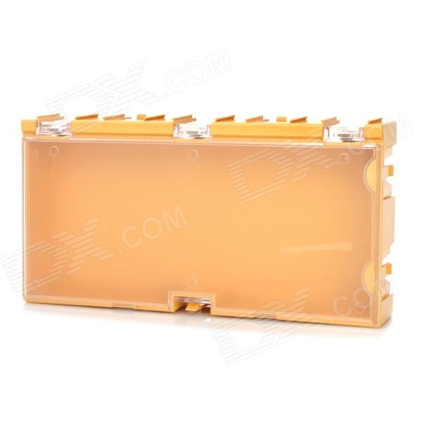 Multi-Functional Building Block Style Electronic Component Storage Case - Yellow free shipping ad7876 ad7876aq ad7876bq double pin dip ceramic electronic component electronic components ic