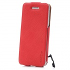 BASEUS Protective PU Leather Case w/ Anti-Dust Plug for Iphone 5 - Red