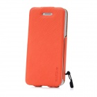 BASEUS LTAPIPH5-XW07 Up-Down Flip-Open PU Leather Case w/ Anti-Dust Tape for Iphone - Orange