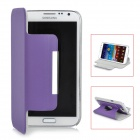 Rotatable Protective Flip-Open PU Leather Case for Samsung Galaxy Note II N7100 - Purple