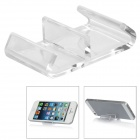 Super Light Two Compartment Universal Stand for iPhone 5 + More - Transparent