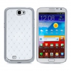 Protective CrystalPC Back Case for Samsung Galaxy Note II N7100 - White + Silver