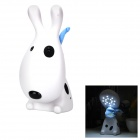 YiPinTang Cute Rechargeable 16-LED White Light Love Dog Lamp - White (220V / 2-Flat Pin Plug)