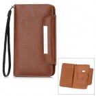 KALAIDENG Protective Flip-Open PU Leather Case w/ Card Slot for Nokia 920 - Brown