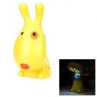 YiPinTang Cute Rechargeable 0.8W 16 LED White Light Love Dog Lamp - Yellow (220V / 2-Flat Pin Plug)