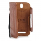 Kalaideng Flip-Open Protective PU Leather Case w/ Card Slot for HTC T528T - Brown