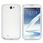 Protective TPU Silicone Case w/ Screen Protector for Samsung N7100 - Transparent