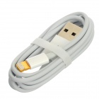 Lightning 8-Pin Male to USB Male Data Cable for iPhone 5 - White (103cm)