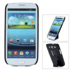 Protective Flip-Open ABS Case with Clip for Samsung Galaxy S3 9300 - Black