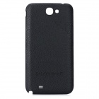 Replacement PU Leder Battery Back Cover für Samsung Galaxy Note N7100 II - Schwarz