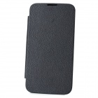 Lychee Pattern Replacement NFC Battery Back Case w/ Cover for Samsung Galaxy Note II N7100 - Black