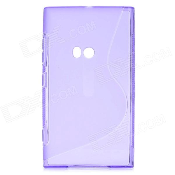 """S"" Style Protective Silicone Back Case for Nokia Lumia 920 - Purple"