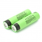 Panasonic NCR18650B Super Max 3.7V 3400mAh Rechargeable Li-ion Battery - Black + Green (2 Pieces)