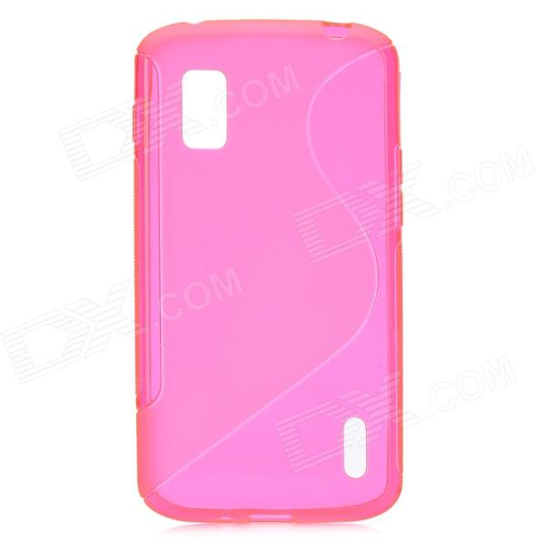 S Style Protective TPU Back Cover Case for LG Nexus 4 E960 - Translucent Red cute faerie pattern protective pu leather case cover stand for ipad air pink