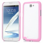 Protective ABS Bumper Frame for Samsung Galaxy Note 2 N7100 - Pink