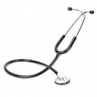 YS615 Deluxe Healthy Medical Single Head Stethoscope - Black + Silver