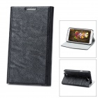 Lychee Pattern Ultra Thin Protective PU Leather Case for Samsung Galaxy Note II N7100 - Black