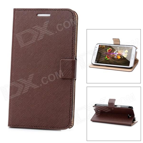 Protective PU Leather Case for Samsung Galaxy Note II N7100 - Brown