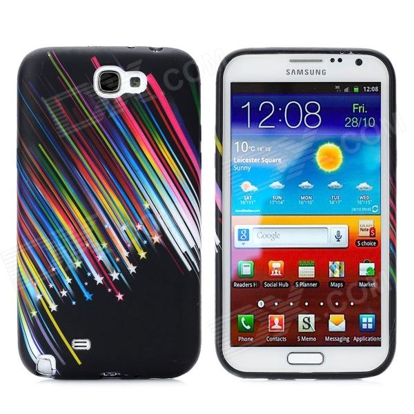Meteor Pattern Protective Silicone Back Case for Samsung Galaxy Note II N7100 - Multi-Colored