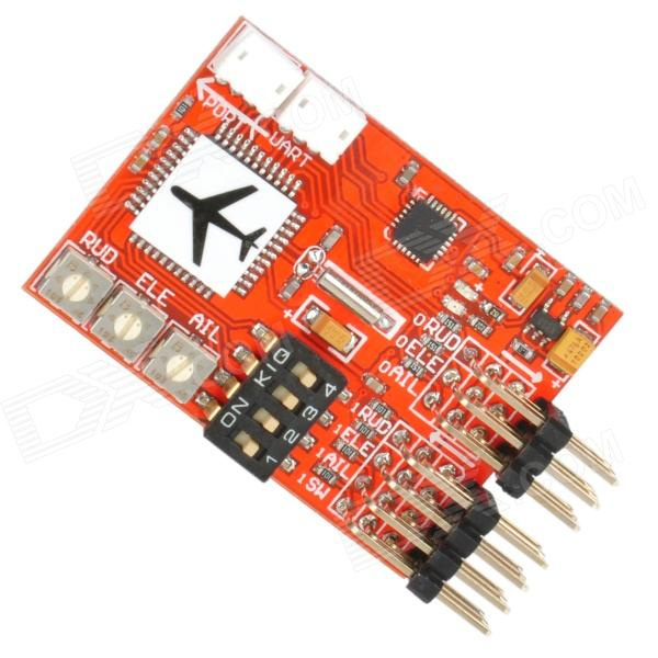 JCX-M6 Digital Flight Controller for RC Airplane RC Model Plane FPV Fixed-Wing Airplane - Red the flight of icarus