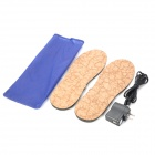 Foot Warmer USB Heated Cuttable Insoles w/ USB Cable + AC Power Adapter - Brown + Black (2 PCS)