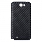 Straw Mat Replacement PU Leder Battery Back Cover für Samsung Galaxy Note N7100 II - Schwarz