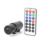 D-019 300KP CMOS Wide Angle Car DVR Camcorder w/ MP3 Player / FM / TF Card Slot - Black