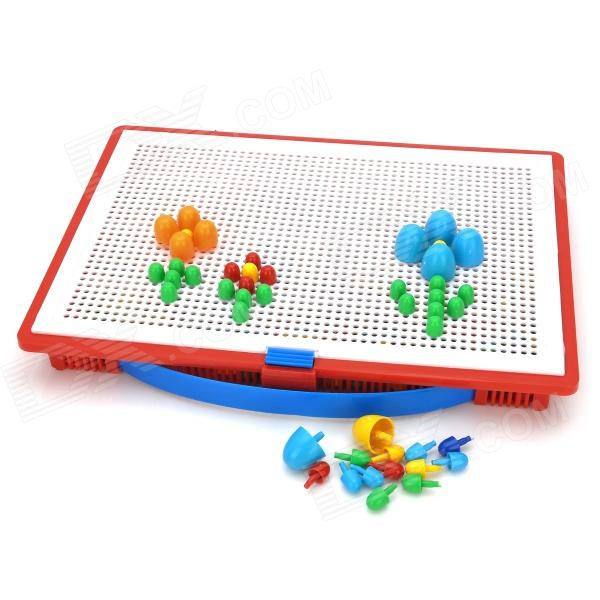 Creative Multi-color Intelligence Training Mushroom Nail Puzzle Toy Set (296pcs)