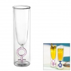 Pink Girl Symbol Toast Double Walled Glass Cup (120ml)