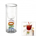 Love Toast Double Walled Red Wine Glass Cup (100ml)