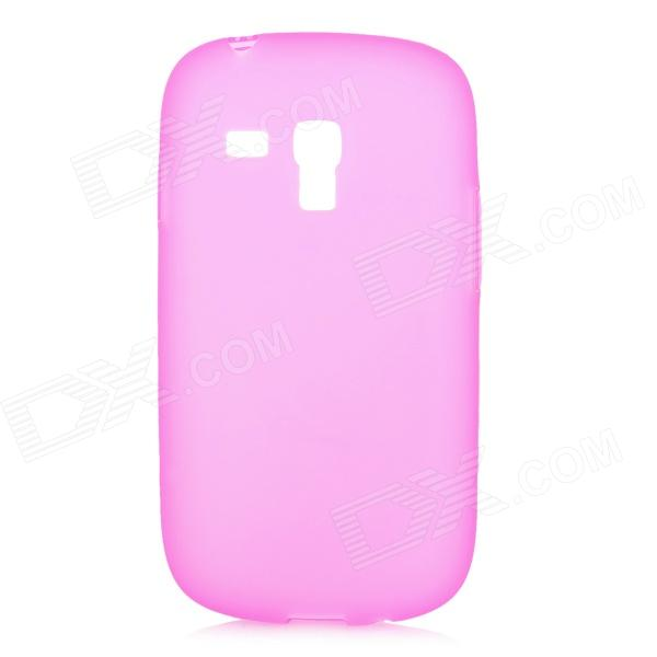 Protective Soft PVC Back Case for Samsung Galaxy S3 Mini i8190 - Deep Pink protective pvc plastic back case for doogee dg310 deep pink