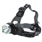 XM-L-T6-2 Cree XM-L T6 910lm 3-Mode White Bicycle Headlamp - Black + Silver (2 x 18650 / 4 x 18650)