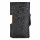 Lychee Pattern Protective PU Leather Case w/ Belt Clip for Samsung Galaxy Ace Duos S6802 - Black